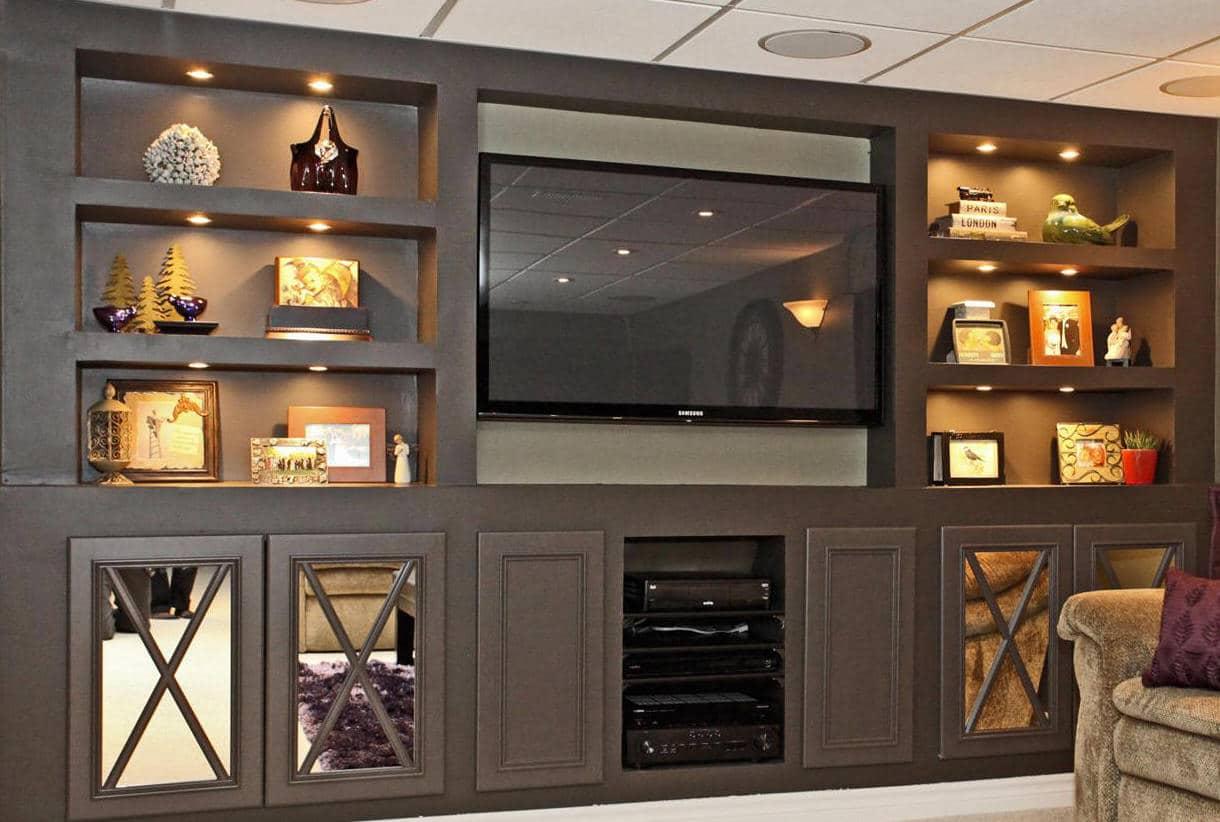 Custom Built ins -Basement renovation