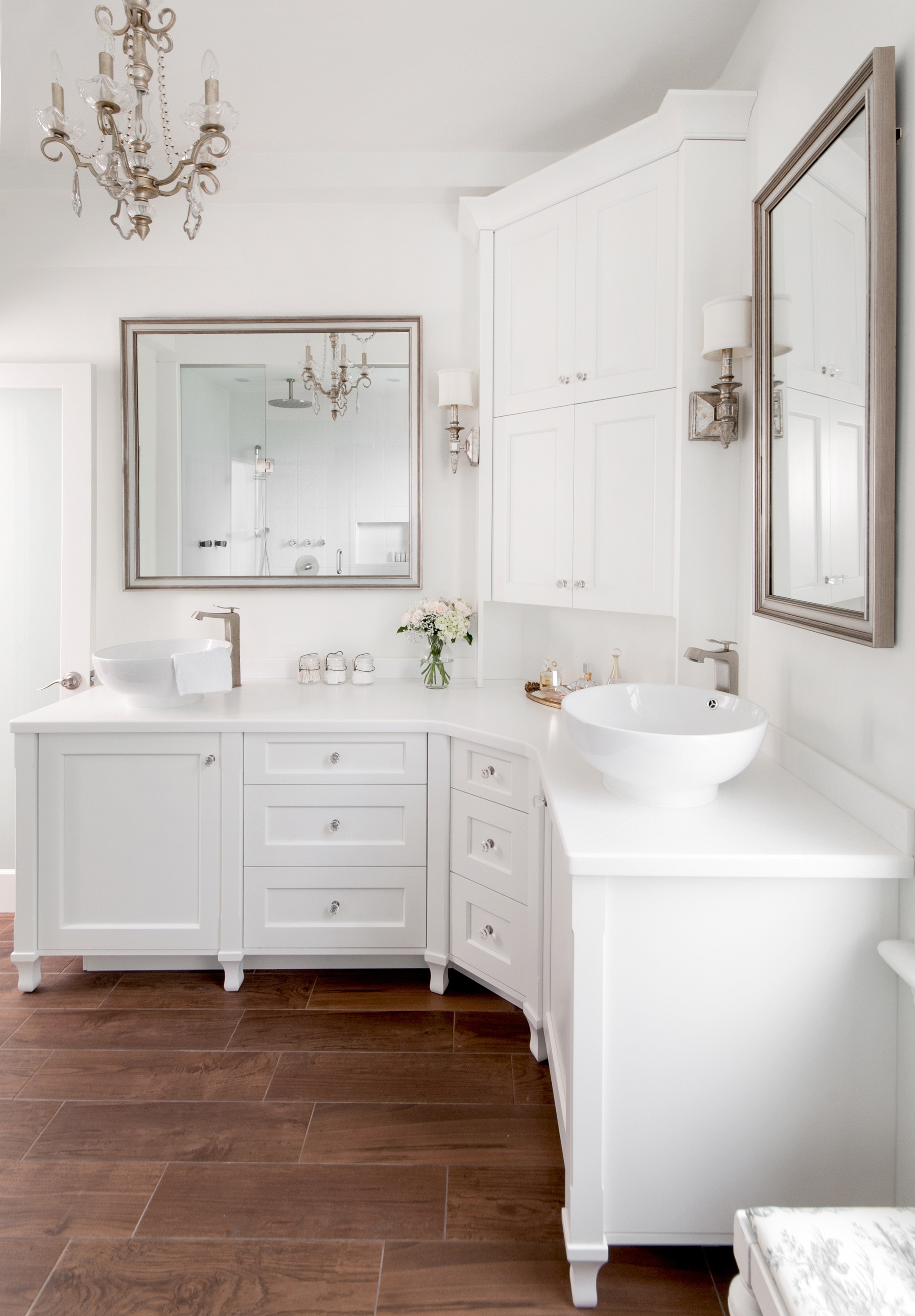 Bathroom renovation our most elegant design yet creating contrast designs Bathroom design ideas houzz