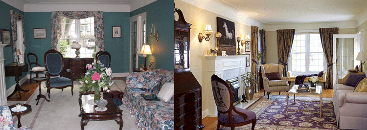 Before and After Traditional Living Room
