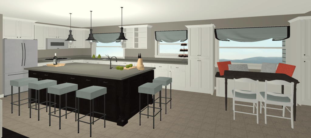 Option#1 Rendering Kitchen
