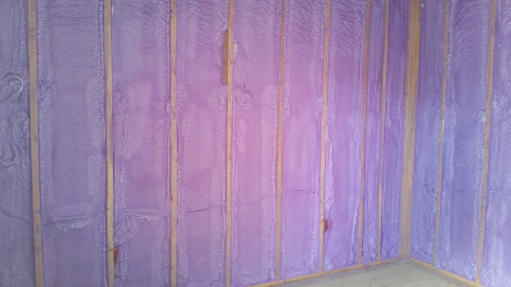 Insulating with spray foam for was well worth the extra money