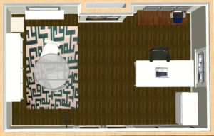 My Rendering of the Inside of the Studio