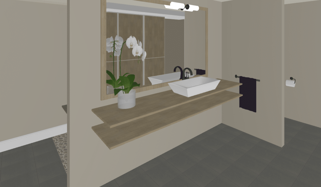 Rendering of Bathroom
