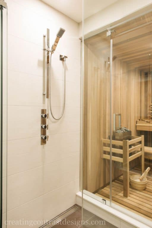 Bathroom Sauna And Steam Room: Contemporary Bathroom Design With Sauna
