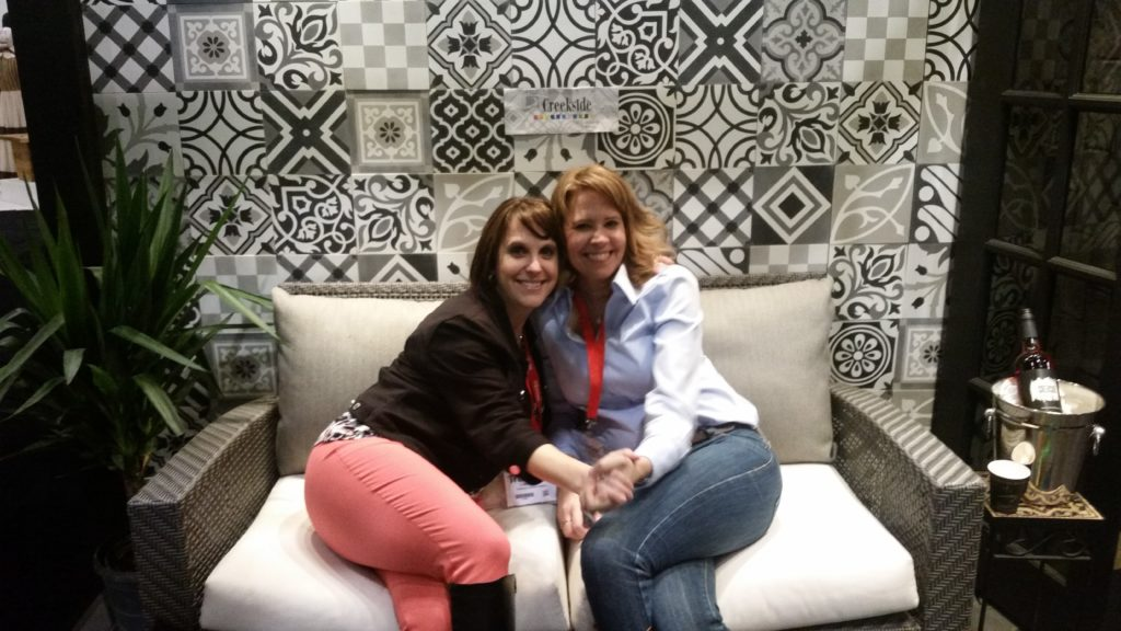 Claire and Alison at IDS taking a break at the Creekside booth