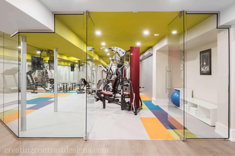 Home Gym Design | Creating Contrast Designs