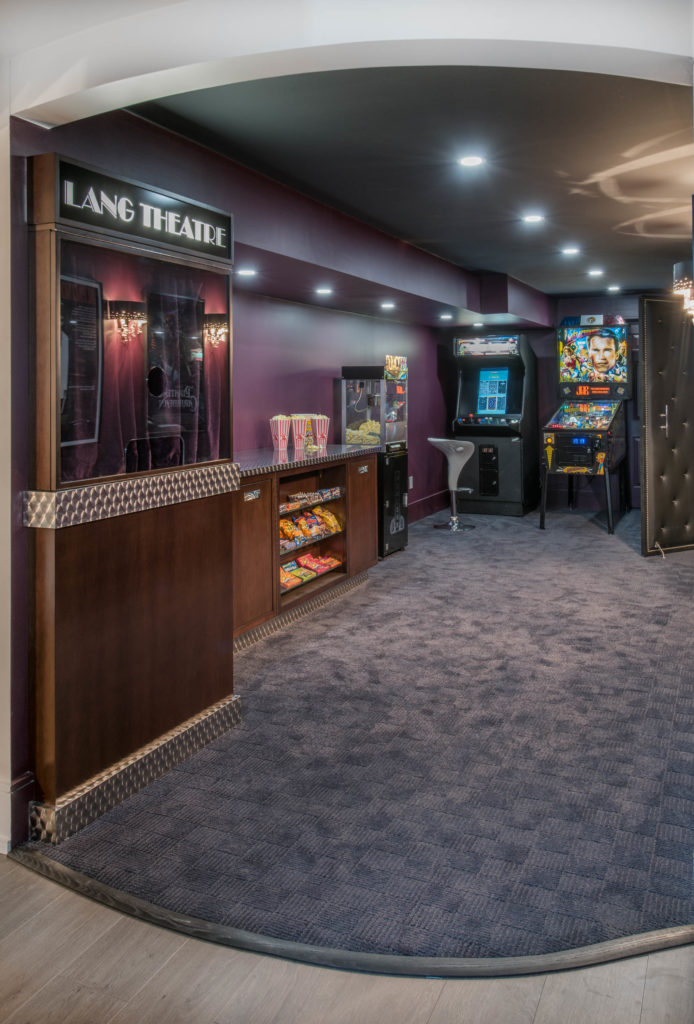 Entry from the hallway to the concession and theatre area