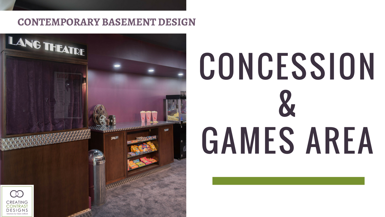 Home Theatre Concession & Games Room