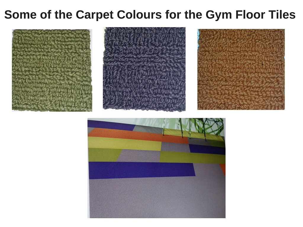Some of the Carpet Tiles for the Gym Flooring