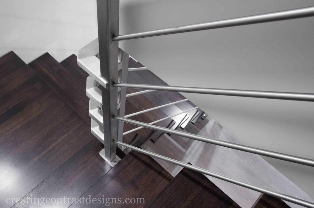 Custom Stairs - Stainless Steel, Welded Metal & Hardwood