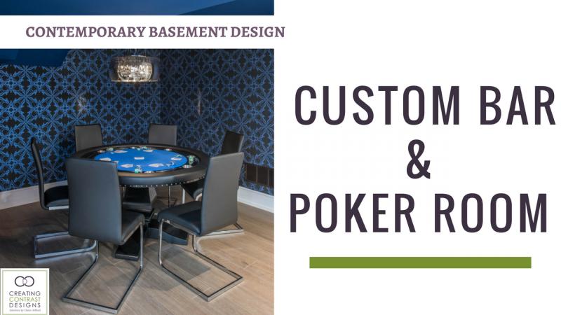 Basement Bar & Poker Room Design