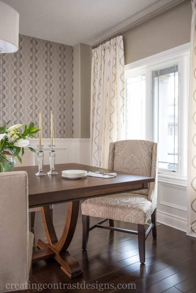 Dining room by Creating Contrast Designs, Photography by Stephani Buchman