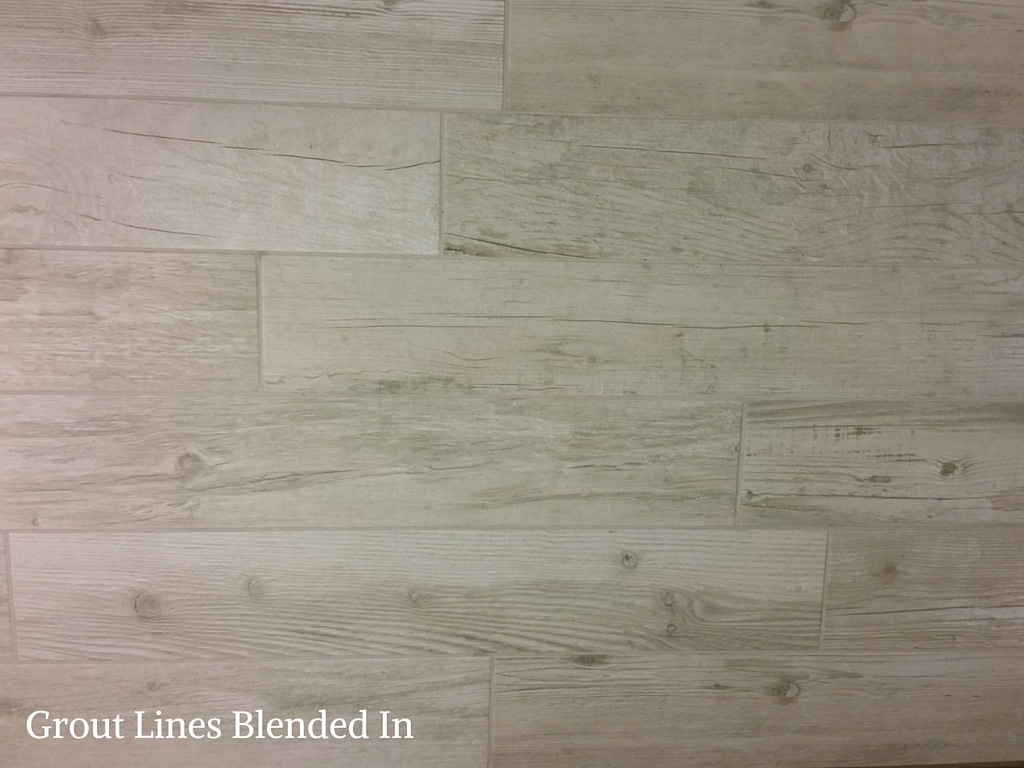 Grout lines blended in
