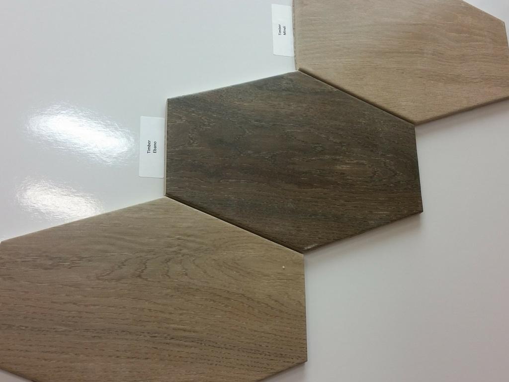 Hexagon wood tile