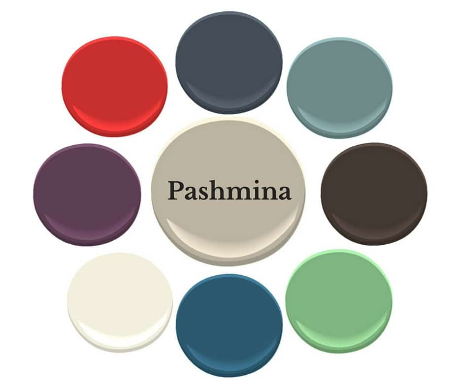 Pashmina with colours