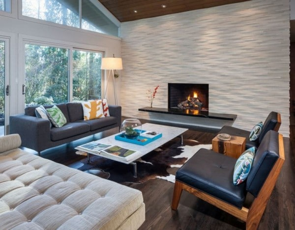 Mid Century Modern Living room by Christie Architecture