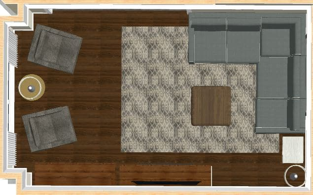 Area Rug Shown in a Better Size -8x10