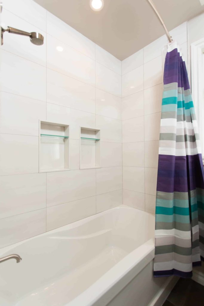 New Shower with 'His and Her' Niches