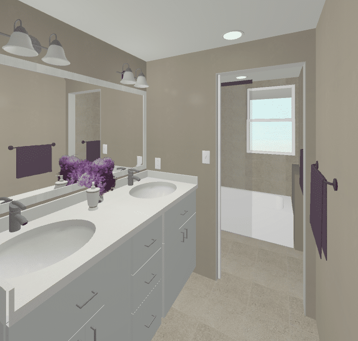 Option #1 - Move Shower and Toilet