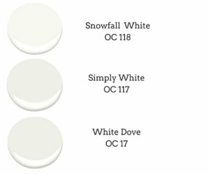 comparing 3 whites