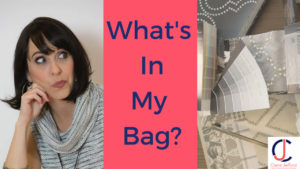 What's in my bag, interior designer consultation.