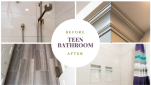 Teen Bathroom Makeover - Before and After