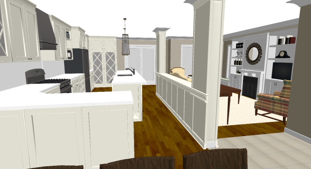 Rendering Design Where We Knocked Out A Wall U0026 Created A Pass Through To  Open Up The Space.