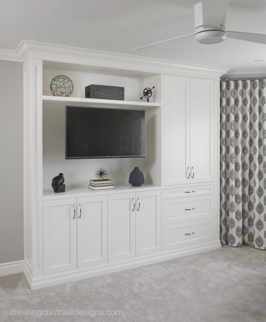 Custom Cabinetry in Cloud White by Benjamin Moore.