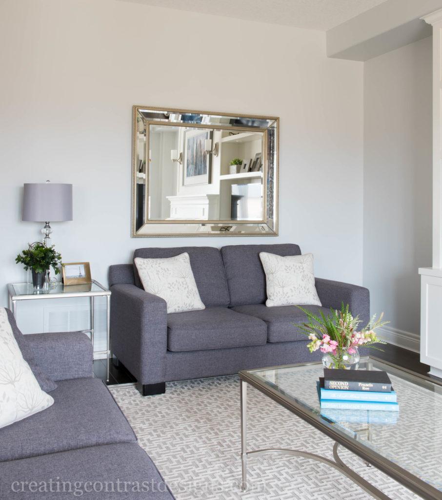 Escape Gray Living Room: Sea Salt By Sherwin Williams