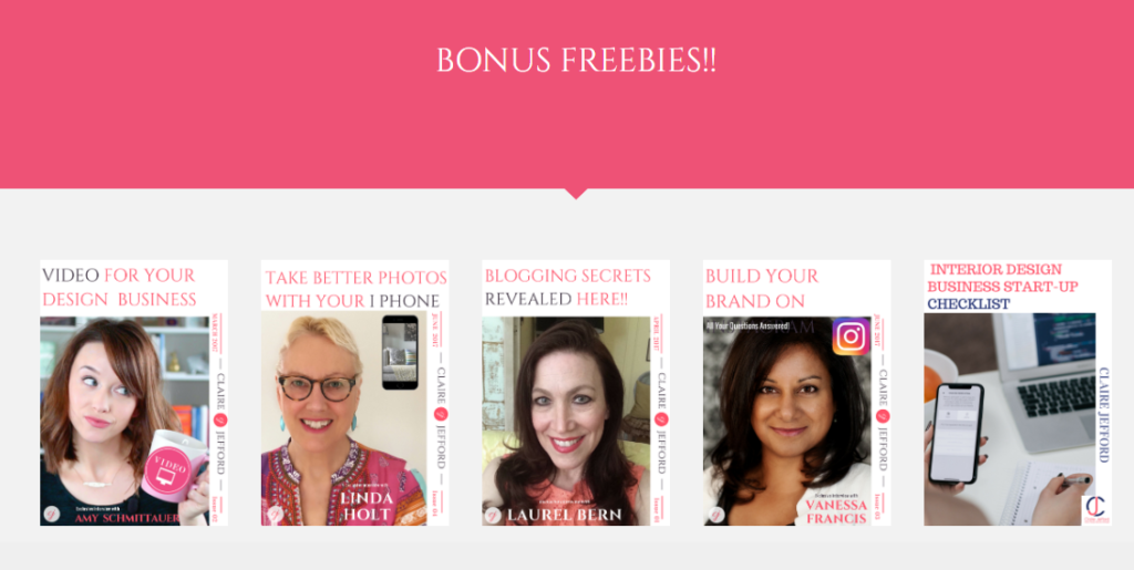 Click here to get access to all of these BONUS TIP SHEETS!