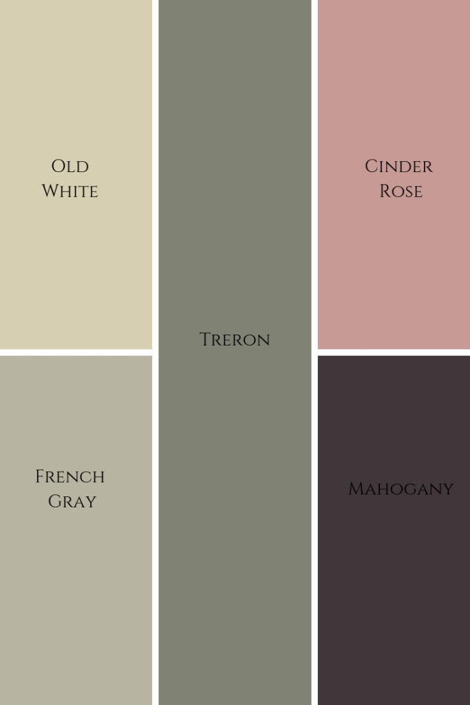 Farrow and Ball 'Camouflage' Colour palette