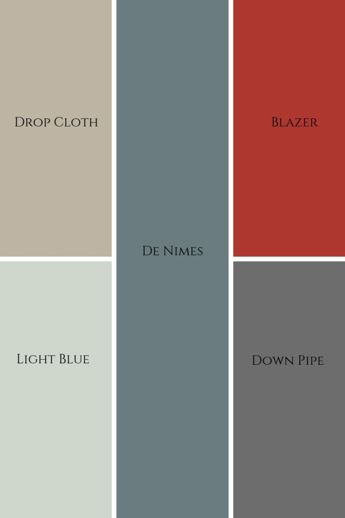 Farrow and ball colour palette modern