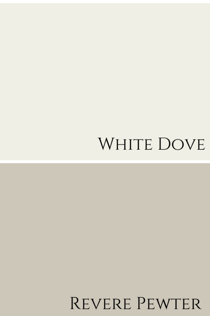 White Dove & Revere Pewter Colour Combination