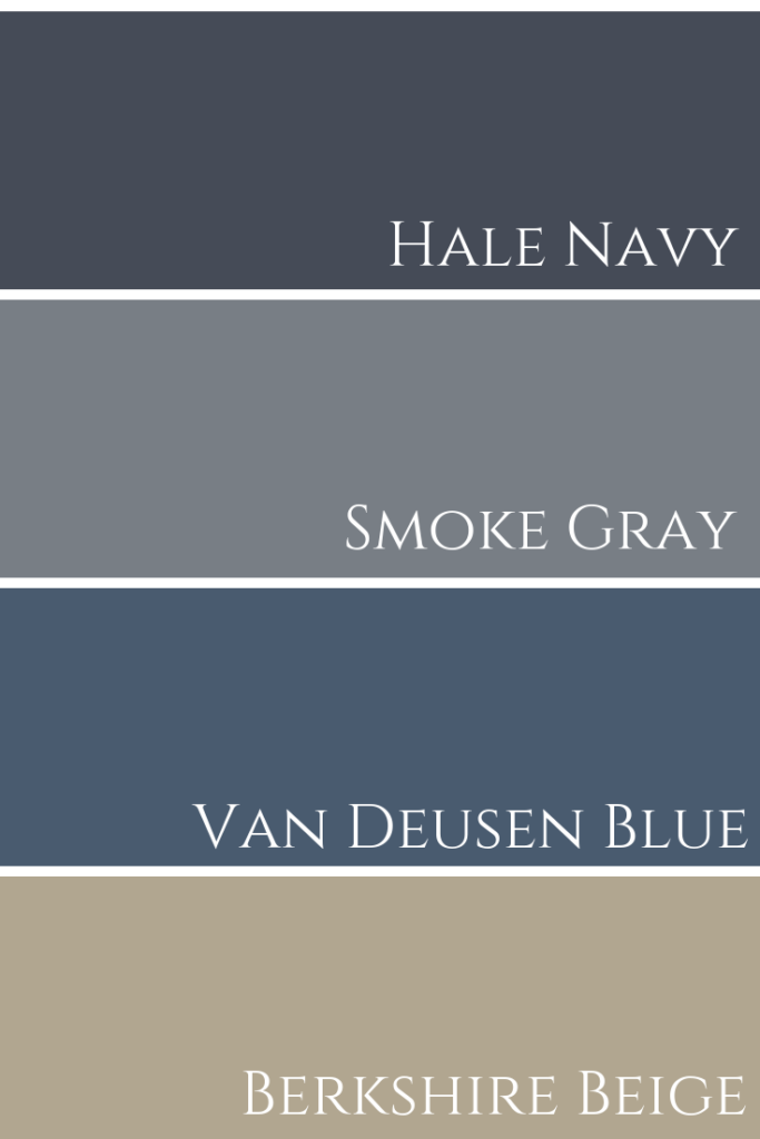 Hale Navy & Smoke Gray & Van Deusen Blue & Berkshire Beige Comparison