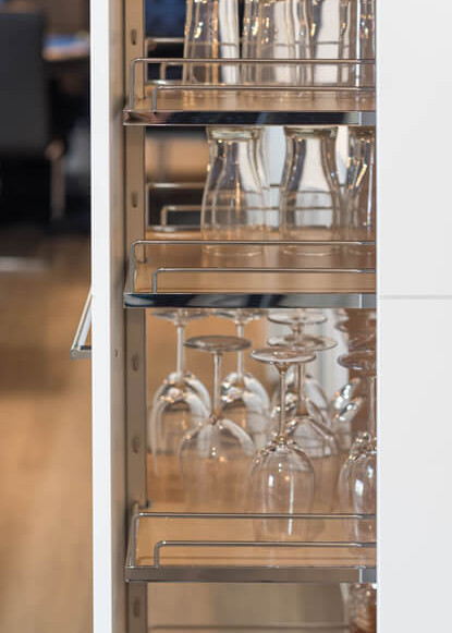 basement-pull-out-drawer-for-wine-glass-storage
