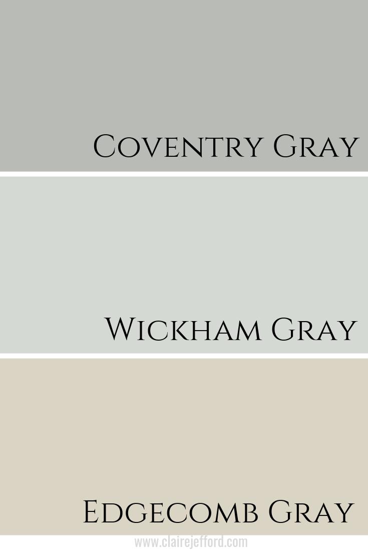 Coventry Gray & Wickham Gray & Edgecomb Gray