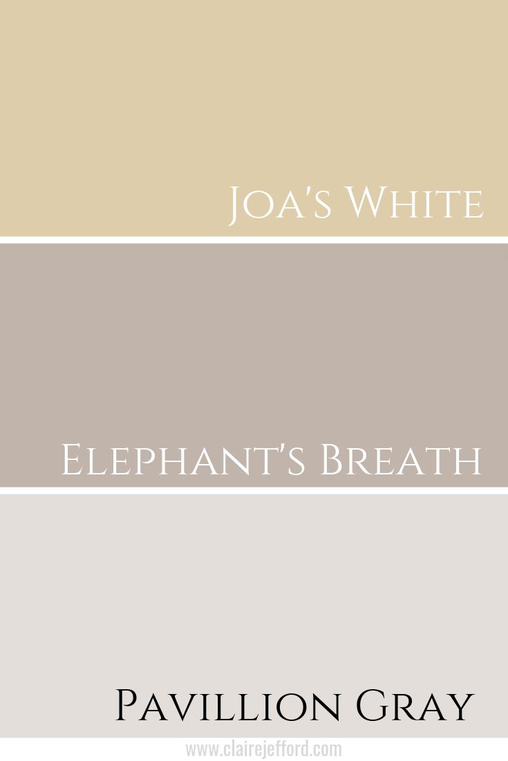 Joa's White & Elephant's Breath & Pavillion Gray