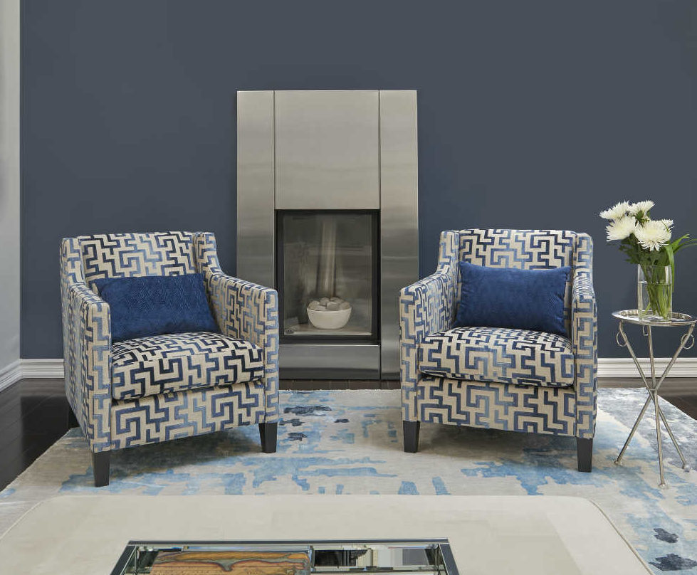 living-room-with-benjamin-moore-hale-navy-accent-wall-fireplace-wall-geometric-blue-chairs