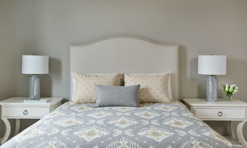 master-bedroom-with-ikat-duvet-oakville-ontario