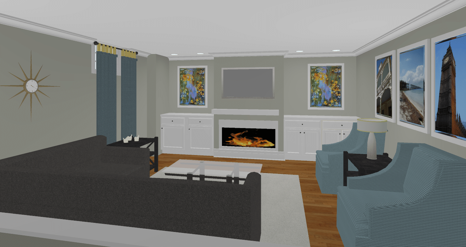 Option#1 Rendering of Living Space