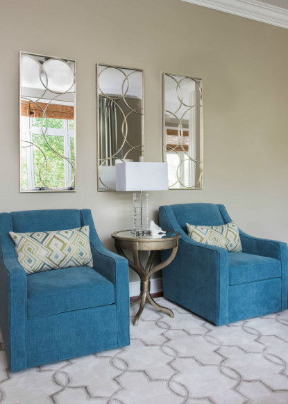 two-blue-arm-chairs-with-accent-pillows-ontario-interior-design