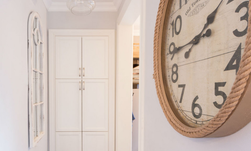white-custom-cabinetry-large-clock-claire-jefford