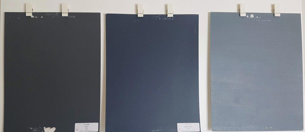 From left to righ: Flint AF 560 Hale Navy & Black Pepper 2130-40