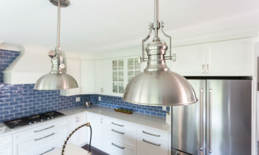 kitchen-with-chrome-pendant-lights