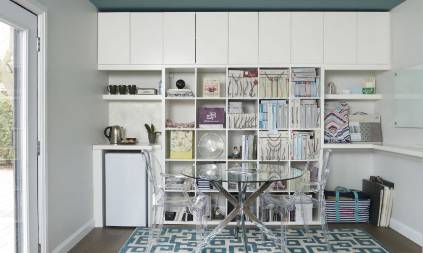 office-with-ikea-kallax-unit-white-walls-and-painted-ceiling