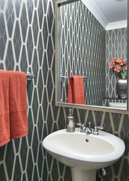 wallpaper-powder-room-with-pedestal-sink-oakville-on
