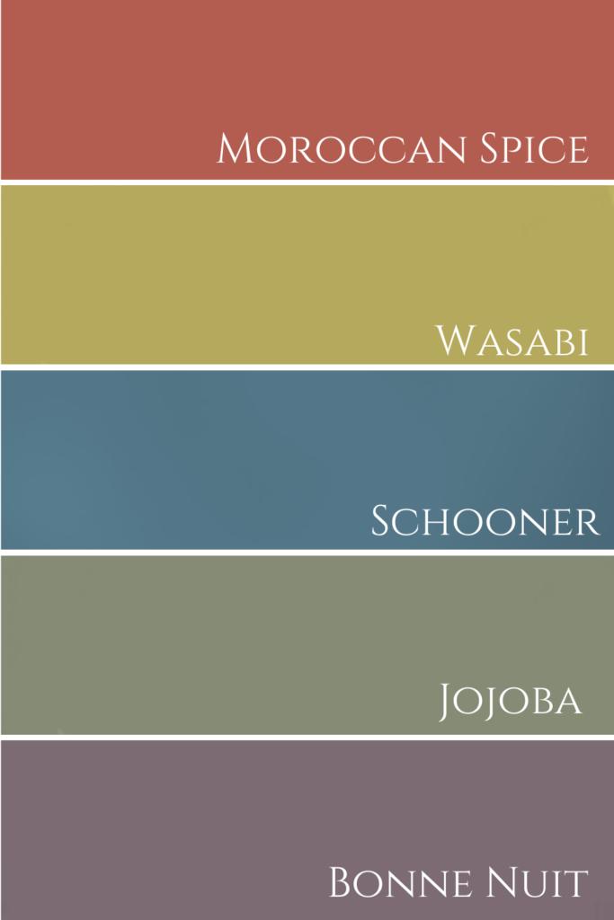 Benjamin Moore Colour Palette