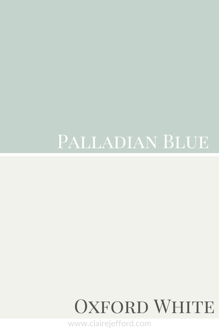 Palladian Blue and Oxford White