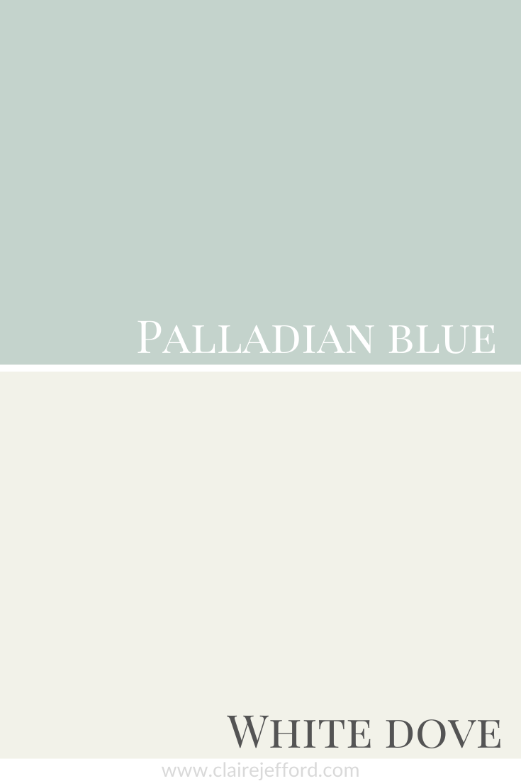 Palladian Blue and White Dove