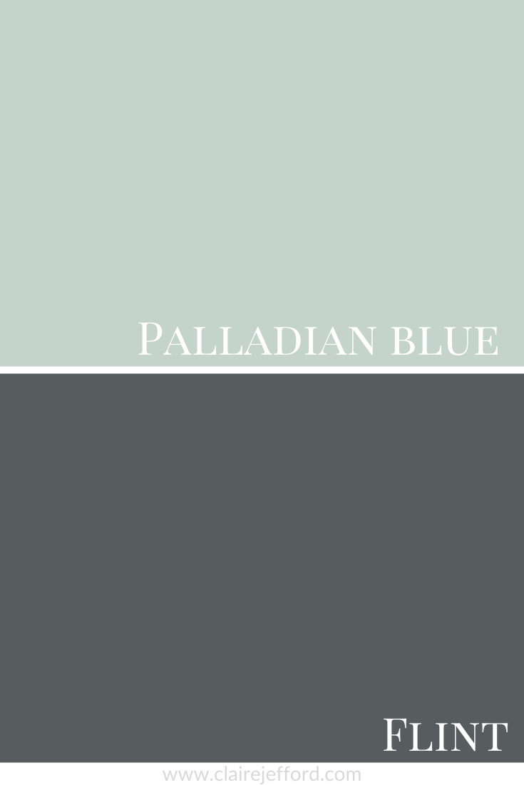 Palladian Blue and Flint